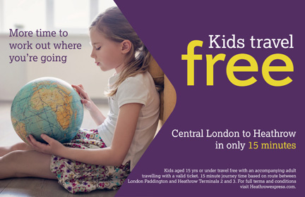 Heathrow Express Kids Travel Free