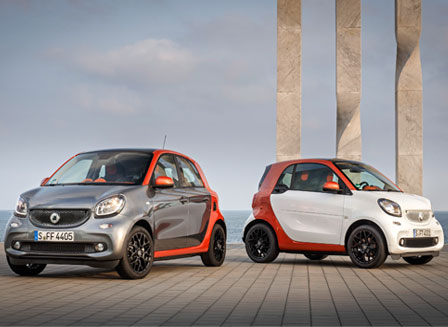 Smart Fortwo and Forfour © Daimler