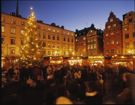 The Christmas market on Stortorget